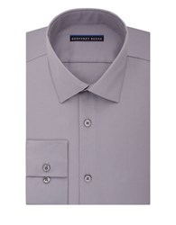 Geoffrey Beene Sateen Fitted Dress Shirt Gun Metal
