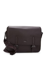 Hugo Boss Martie Grained Leather Messenger Bag Red
