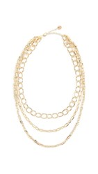 Jules Smith Designs Layered Chain Necklace Yellow Gold