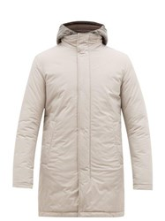 Herno Gilet Insert Quilted Hooded Parka Light Grey