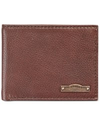 Levi's Rfid Leather Bifold Wallet Brown