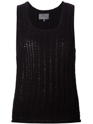 Maiyet Ribbed Sleeveless Sweater Black