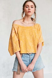 Silence And Noise Asymmetrical Off The Shoulder Tee Orange