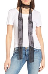 Hinge Women's Beaded Skinny Scarf