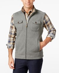 Tasso Elba Men's Big And Tall Sherpa Lined Collar Bonded Hunting Vest Only At Macy's Brown Olive Combo