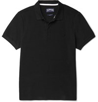 Vilebrequin Slim Fit Cotton Pique Polo Shirt Black
