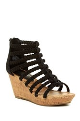Rampage Julius Platform Wedge Sandal Black