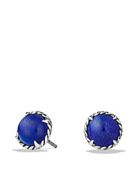 David Yurman Chatelaine Earrings With Lapis Lazuli Blue Silver