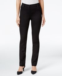 Style And Co Petite Ankle Zip Skinny Pants Only At Macy's Deep Black