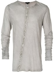 Unconditional Striped Long Sleeve T Shirt Grey