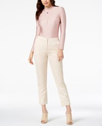 By Glamorous Mock Neck Lace Up Bodysuit Created For Macy's Pink