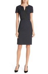 Boss Deriba Minidessin Stretch Wool Sheath Dress
