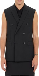 Givenchy Double Breasted Vest Black Size 46 Eu