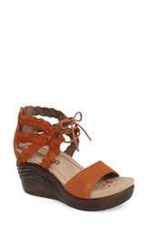Bionica Women's Sunset Sandal Cashew Orange Leather