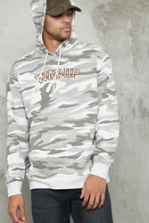 Forever 21 Way Up Graphic Hoodie Light Grey Charcoal