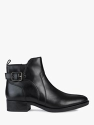 Geox 'S Felicity Leather Buckle Ankle Boots Black