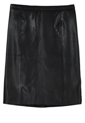 Noa Noa Leather Skirt Black