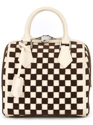 Louis Vuitton Vintage Speedy Cube Pm Tote White