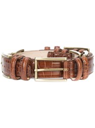 Y Project Buckles Belt Leather Brown