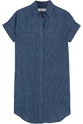 Madewell Courier Denim Mini Dress Mid Denim