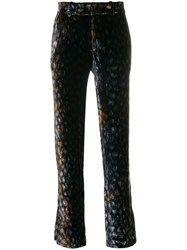 Equipment Patterned Trousers Silk Polyester Viscose L