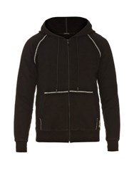 Marc Jacobs Contrast Stitch Cotton Jersey Hooded Sweatshirt Black
