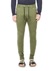 Balmain Quilted Paneled Trousers Khaki
