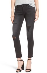 Vigoss Women's Destroyed Crop Skinny Jeans Black
