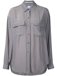 Cityshop Flap Pocket Shirt Women Polyester One Size Nude Neutrals