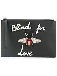Gucci Blind For Love Clutch Bag Black