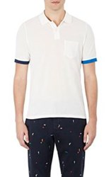 Band Of Outsiders Contrast Cuff Polo Shirt Multi Size 0 Xs