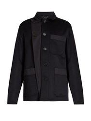 Burberry Double Faced Cashmere Jacket Navy