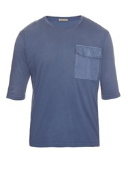 Bottega Veneta Patch Pocket Cotton T Shirt Blue