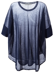 Zanone Sheer Loose Top Blue