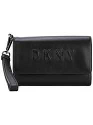 Dkny Debossed Logo Wallet Black
