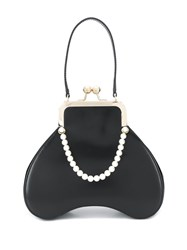 Simone Rocha Baby Bean Faux Pearl Embellished Top Handle Bag Black
