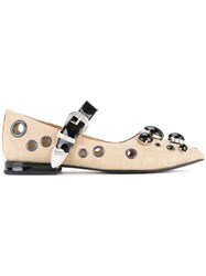 Toga Pulla Studded Detail Sandals Brown