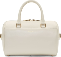 Saint Laurent Ivory Leather Baby Duffle Bag