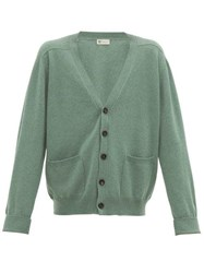 Connolly Art V Neck Cashmere Cardigan Green