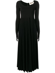 Awake A.W.A.K.E. Gloved Pleated Dress Black
