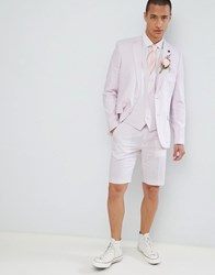 French Connection Wedding Linen Slim Fit Suit Jacket Dusky Pink
