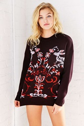 Cooperative Enchanted Pullover Sweater Red Multi