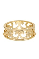 Ariella Collection Open Work Metal Band Ring