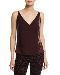 J Brand Lucy V Neck Camisole Deep Mulberry
