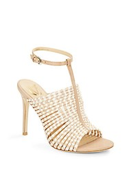 Vince Camuto Maai Braided Leather T Strap Sandals Light Beige