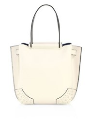 Tod's Wave Small Pebbled Leather Tote Cream