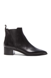 Acne Studios Jensen Leather Booties In Black