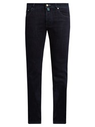 Jacob Cohen Tailored Slim Leg Stretch Denim Jeans Dark Blue