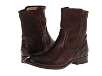 Frye Melissa Scrunch Short Dark Brown Antique Soft Full Grain Women's Pull On Boots