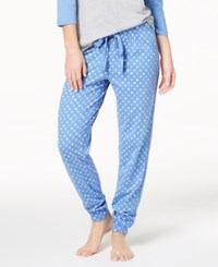 By Jennifer Moore Cotton Printed Jogger Pajama Pants Created For Macy's Moon Dot Marina